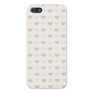 Valentine Heart Pattern Gray Hearts iPhone 5/5S Covers