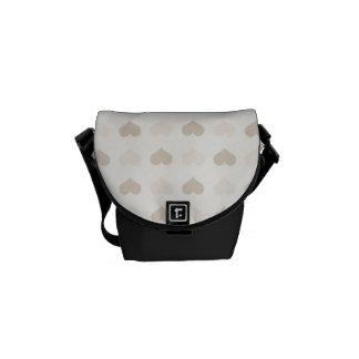 Valentine Heart Pattern Gray Hearts Courier Bag