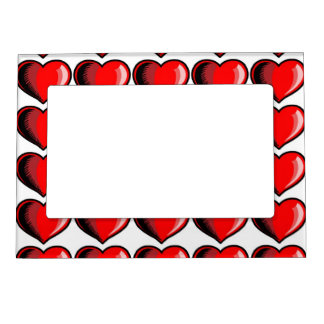 Valentine Heart Pattern Picture Frame Magnets