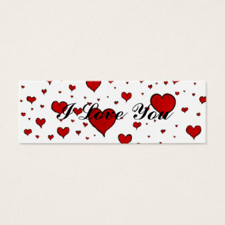 Valentine Heart Pattern Mini Business Card