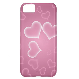 Valentine Heart Pattern Purple Hearts iPhone 5C Covers
