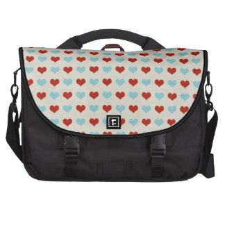 Valentine Heart Pattern Red and Blue Hearts Bag For Laptop