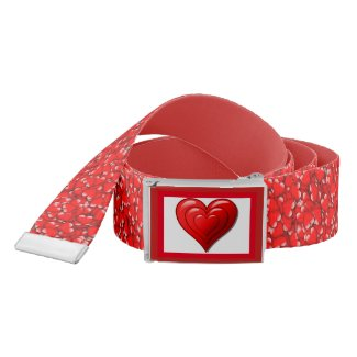 Valentine Heart Pattern Red Belt