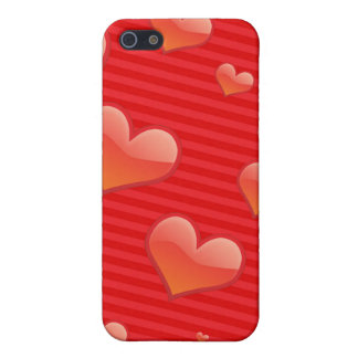 Valentine Heart Pattern Red Hearts iPhone 5 Cases