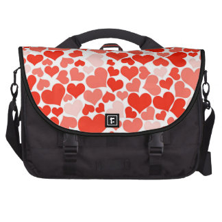 Valentine Heart Pattern Red Hearts Laptop Computer Bag