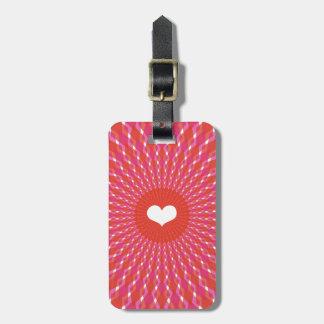 Valentine Heart Pop Luggage Tag