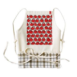 Valentine Heart Rows Zazzle HEART Apron