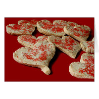 Valentine Heart Sugar Cookies Greeting Card