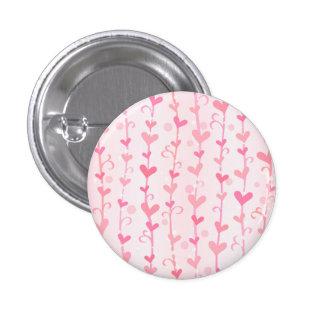Valentine Heart Vines 1 Inch Round Button
