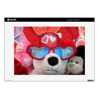 "Valentine Heart With Love Bear Computer Skin 15"" 15"" Laptop Skin"