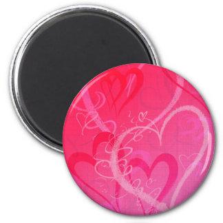 Valentine Hearts 2 Inch Round Magnet