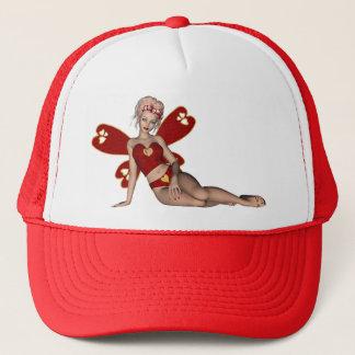 Valentine Hearts 3D Fairy Trucker Hat