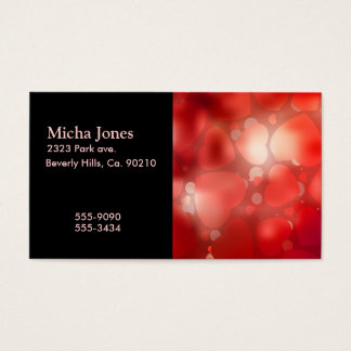 Valentine Hearts Aglow Business Card