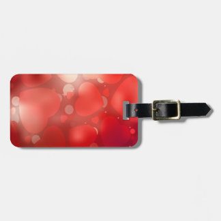 Valentine Hearts Aglow Tag For Luggage