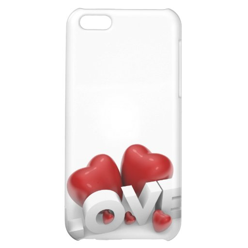 Valentine hearts and love word cover for iPhone 5C