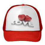 Valentine hearts and love word gorro