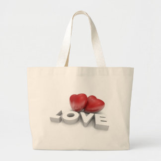 Valentine hearts and love Word Large Tote Bag