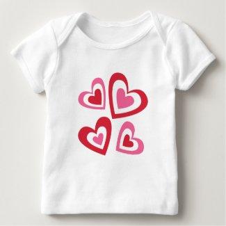 valentine_hearts baby T-Shirt
