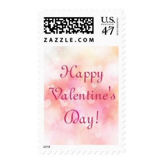 Valentine Hearts Background Postage