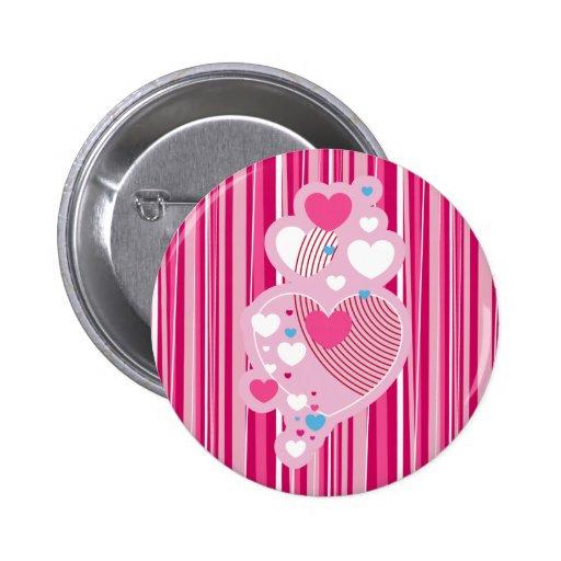 Valentine Hearts Button