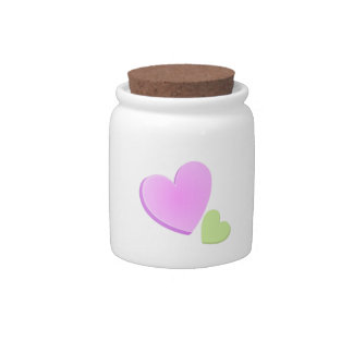 Valentine Hearts Candy Jars