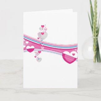 Valentine Hearts Card card