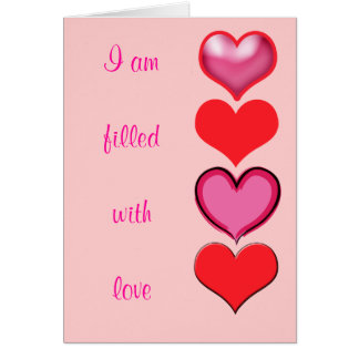 Valentine Hearts Filled with Love Card