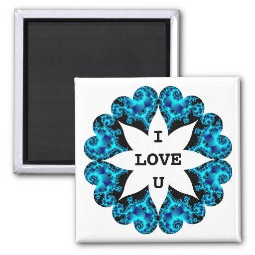 Valentine Hearts I LOVE YOU Magnet 4
