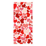 Valentine Hearts large bookmark Customized Rack Card