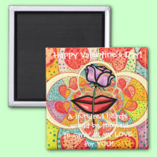 Valentine Romantic Hearts Magnet
