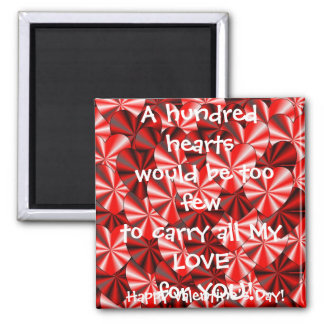 Valentine Hearts Magnet