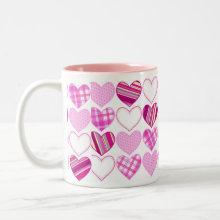 Valentine Hearts Mug - Valentine sweethearts