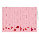 Valentine Hearts On Strings Cards