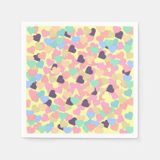 valentine hearts paper napkin