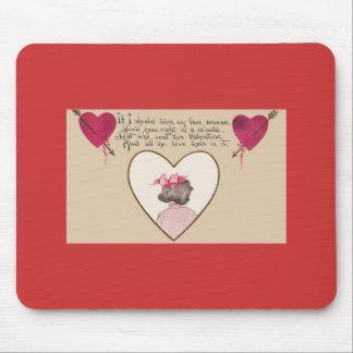 Valentine Hearts Poem Mouse Pad
