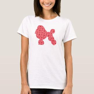 Valentine Hearts Poodle T-Shirt