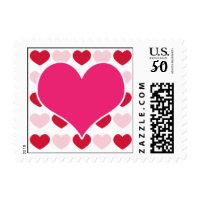 Valentine Hearts Postage