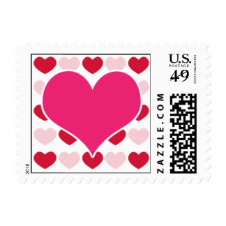 Valentine Hearts Postage Stamp