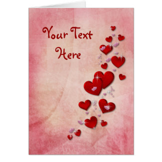 Valentine Hearts to Customize Card