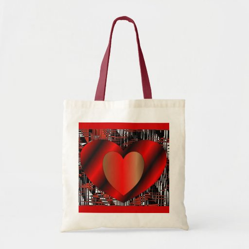 Valentine Hearts Tote Bag