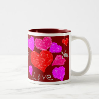 Valentine Hearts Two-Tone Coffee Mug