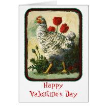 Valentine Hen Card