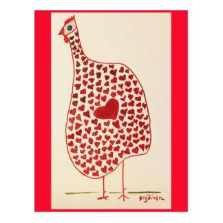Valentine Hen Supports Hearth Health Postcard