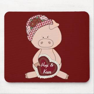 Valentine Hogs & Kisses Mouse Pad