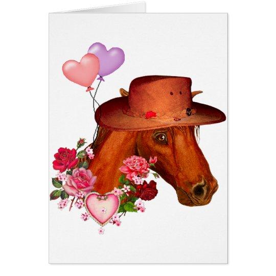 Valentine Horse Card