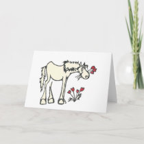 Valentine Horse Custom Message Greeting Card
