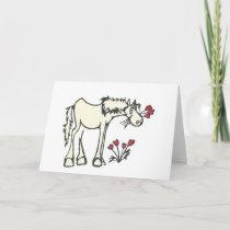 Valentine Horse Custom Message Greeting Card