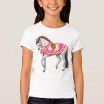 Valentine Horse Girls Baby Doll Shirt