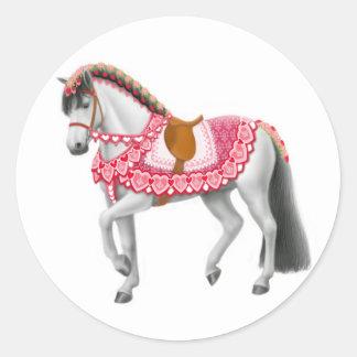 Valentine Horse Sticker