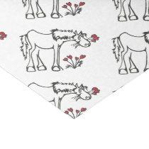 Valentine Horse Tissue Paper